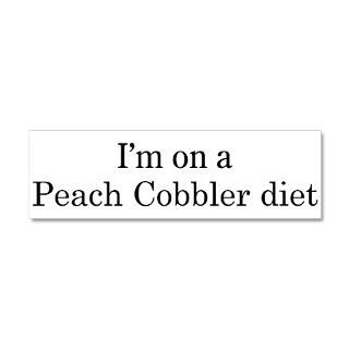 Cooking Gifts  Cooking Wall Decals  Peach Cobbler diet 36x11 Wall