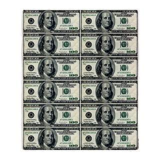 One Hundred Dollar Bill Fleece Blankets  One Hundred Dollar Bill