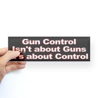Gun Control is about Control Bumper Bumper Sticker for $4.25