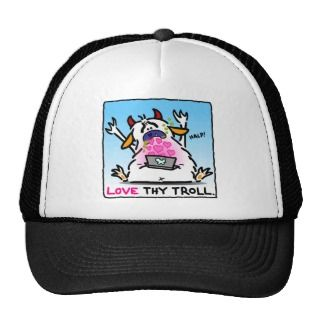 Love Haters Hats and I Love Haters Trucker Hat Designs