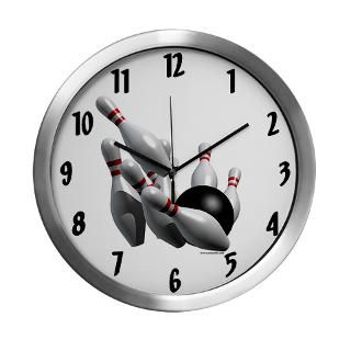 Bowling Strike Modern Wall Clock for $42.50