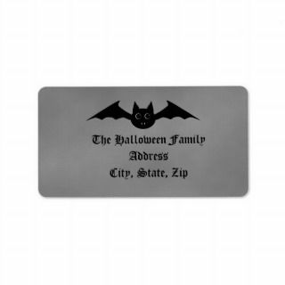 Cute gothic Halloween vampire bat with big eyes Personalized Address