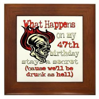 Happy 47Th Birthday Framed Art Tiles  Buy Happy 47Th Birthday Framed