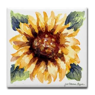 Gifts  Kitchen and Entertaining  Sunflower Blossom 4.5 Art Tile