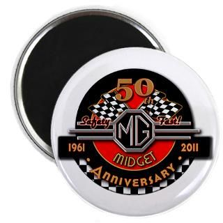 Official 50 Years of Midgets Magnet for $4.50