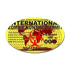 International Zombie Hunting Permit Sticker by ecto_radio