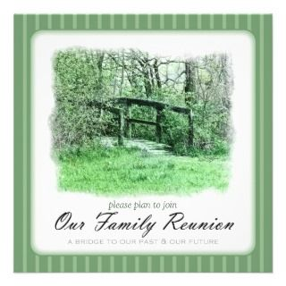 Footbridge Green Custom Family Reunion Invitation