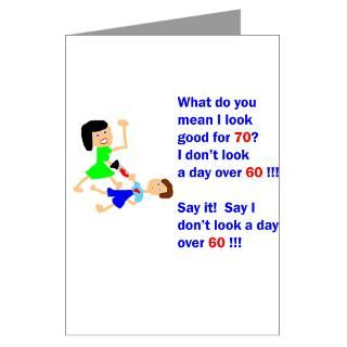 Not a day over 60 Greeting Cards (Pk of 20)