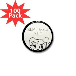 Short Girls Rule 1 Mini Button (100 pack)