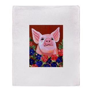 Pig Fleece Blankets  Pig Throw Blankets