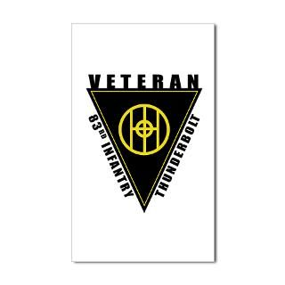 83Rd Infantry Division Thunderbolt Division Stickers  Car Bumper
