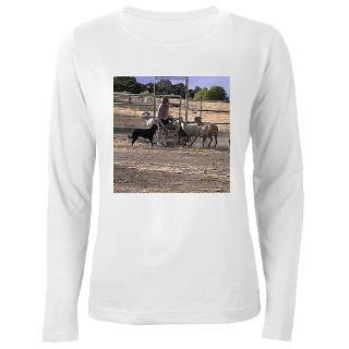 herding dog art women s long sleeve t shirt $ 24 82