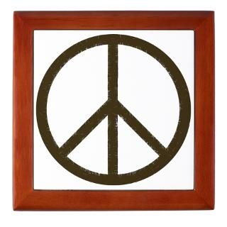 Cool Vintage Peace Sign Wall Clock by tshirtregalia