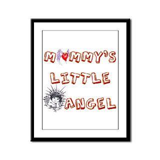 mommy s little angel framed panel print $ 82 98