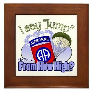 82Nd Airborne Framed Art Tiles  Buy 82Nd Airborne Framed Tile