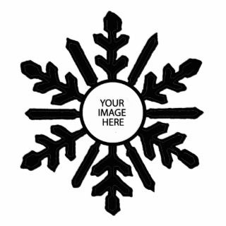 Christmas Tree Ornament Snowflake 1 Black White Photo Cutouts