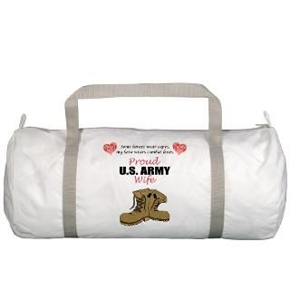 Army Family Gifts  Army Family Bags  Proud US Army Wife Gym Bag