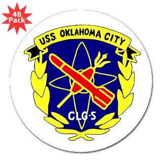 oval sticker 50 pk $ 85 99 uss oklahoma city clg 5 oval sticker 10