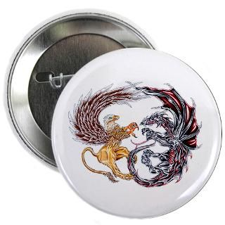 Griffin Fighting Dragon : Tattoo Design T shirts and More