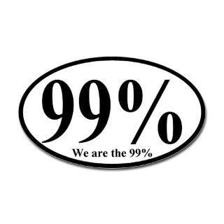 99% We are the 99% Oval Bumper Sticker