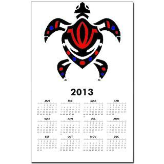 tribal colorful sea turtle calendar print $ 10 98