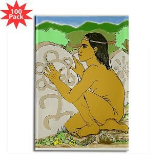 Rectangle Magnet (100 pack) Taino en la Piedra for $250.00