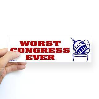 worst congress ever bumper sticker sticker bumper $ 4 99