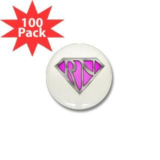 Gifts  Best Nurse Buttons  Super RN   Pink Mini Button (100 pack