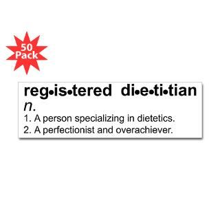 registered dietitian bumper sticker 50 pk $ 107 99