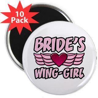 Brides Wing Girl  Bridal Party T Shirts & Bachelor/Bachelorette Tees