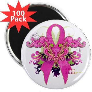 retro breast cancer pink power ribbon 2 25 magnet $ 109 99
