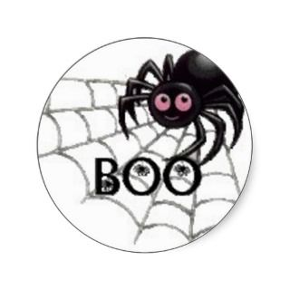 Pink Eyed Spider Halloween Sticker