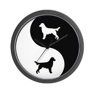 Flat Coated Retriever Clock  Buy Flat Coated Retriever Clocks