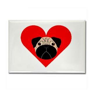 RainbowPugs  PugLove  Fawn Valentine Pug