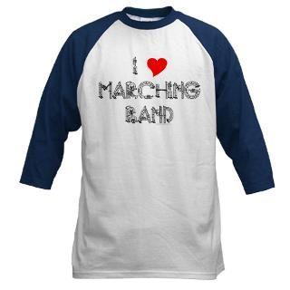 Love Marching Band Baseball Jersey