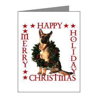 German Shepard Christmas Greeting Cards  Buy German Shepard Christmas