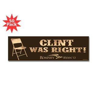 clint was right sticker bumper 50 pk $ 126 99 also available sticker