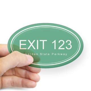 GSP Exit 123 Oval Decal for $4.25