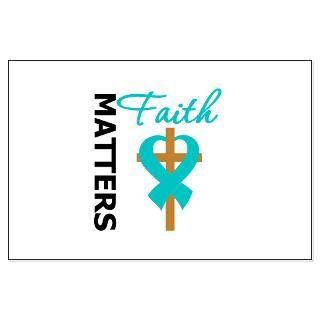 Faith Matters Cross Ribbon Ovarian Cancer Gifts  Gifts 4 Awareness