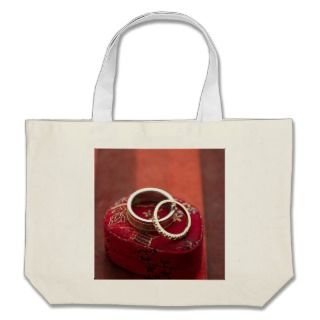 Wedding Rings Storage Box Tote Bags