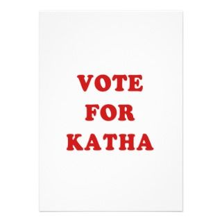 Vote for Katha   Pedro style design Custom Invite