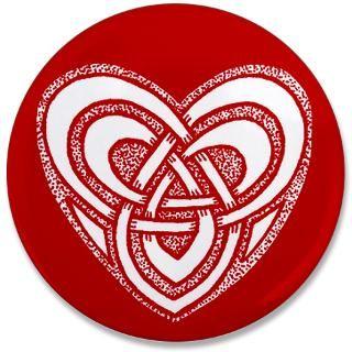 Celtic Knotwork Heart Illustration   Red : Art of FoxVox: Celtic