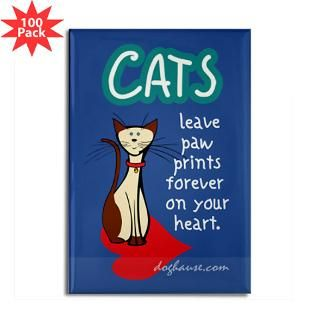 cats leave paw prints rectangle magnet 100 pack $ 165 99