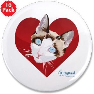 kitty kind valentine s red heart cat 3 5 button $ 169 99