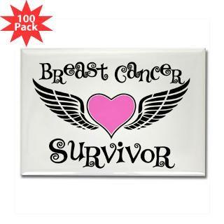 breast cancer survivor rectangle magnet 100 pack $ 168 99