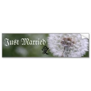 Wild Flowers Wedding Invitations and Favors Bumper Stickers