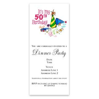 Its My 50th Birthday Party Hats Si Invitations By Admin CP4649722