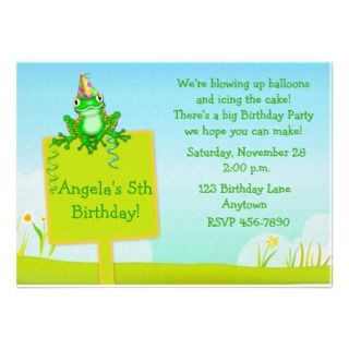 Frog Birthday Invitations, 443 Frog Birthday Announcements & Invites