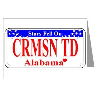 Alabama Crimson Tide Greeting Cards  Buy Alabama Crimson Tide Cards