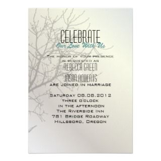 invitation this elegant modern love birds tree wedding invitation
